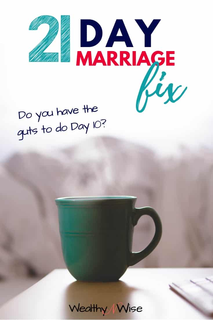 PIN THIS! You don't want to miss this fantastic 21 challenge to change your marriage! #marriagetips Fall back in love with your husband. Get the spark back in your relationships!
