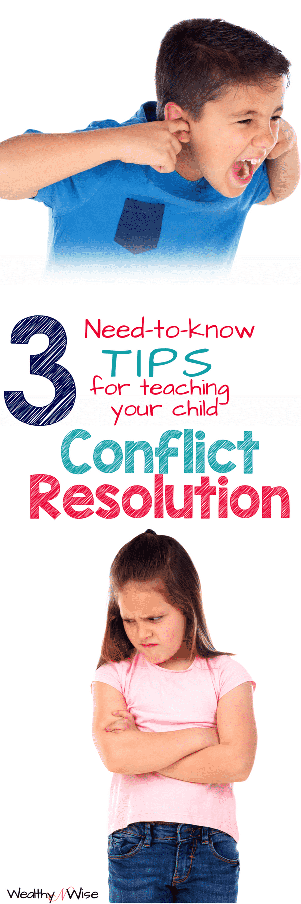 Whether your child is dealing with sibling rivalry or a school bully, they need conflict resolution skills. Take a peek at these 3 need-to-know tips for teaching your child conflict resolution