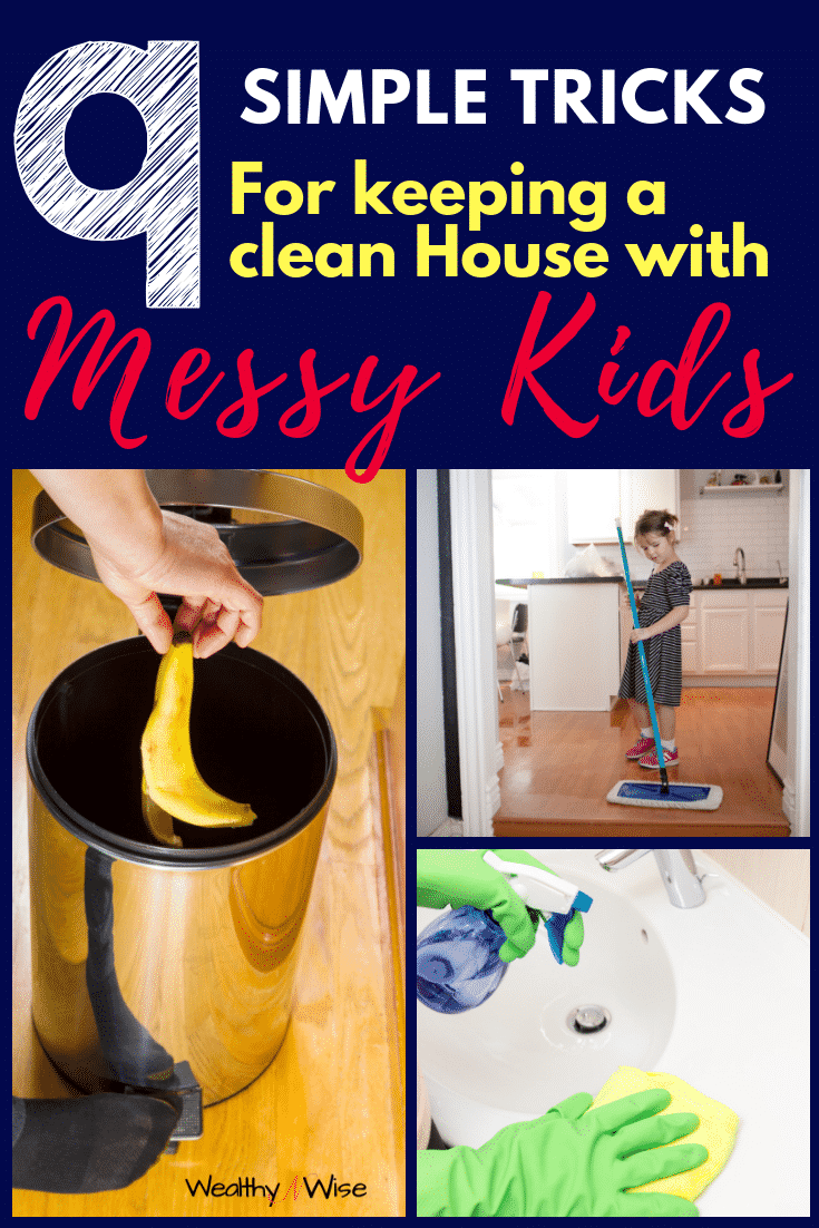 Cleaning Hacks for keeping a clean home with kids. Kids are messy. Keeping your home organized with children can be quite a feat. Check out these 9 tips that work like magic