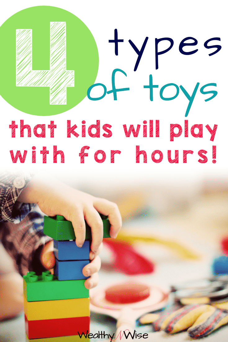 4 types of toys that are worth the money! This makes a great gift guide! toys for boys, toys for girls, toys for preschoolers, toys for 5 years olds, 6 year olds and beyond