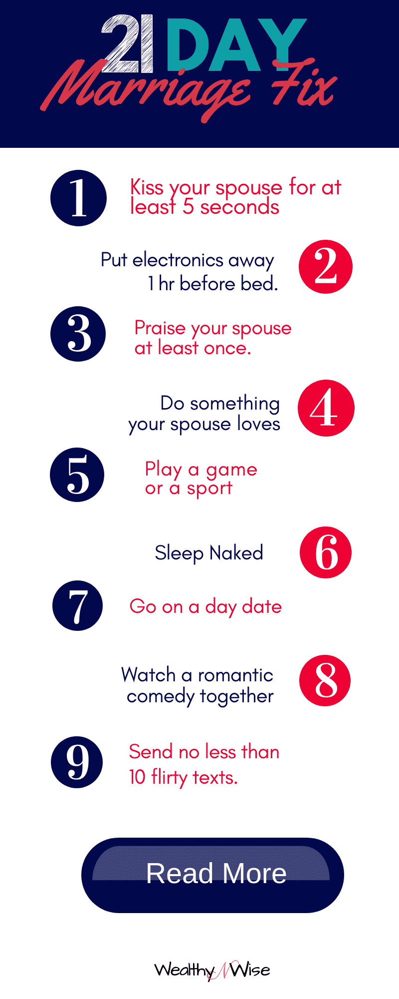PIN THIS! Take the 21 day marriage fix challenge and find out how to fall back in love with your spouse!