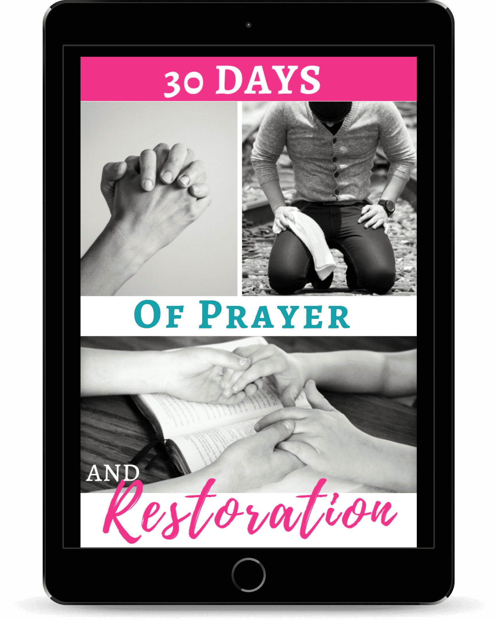 30 days of prayer and resotoration email challenge.  Start Restoring your marriage