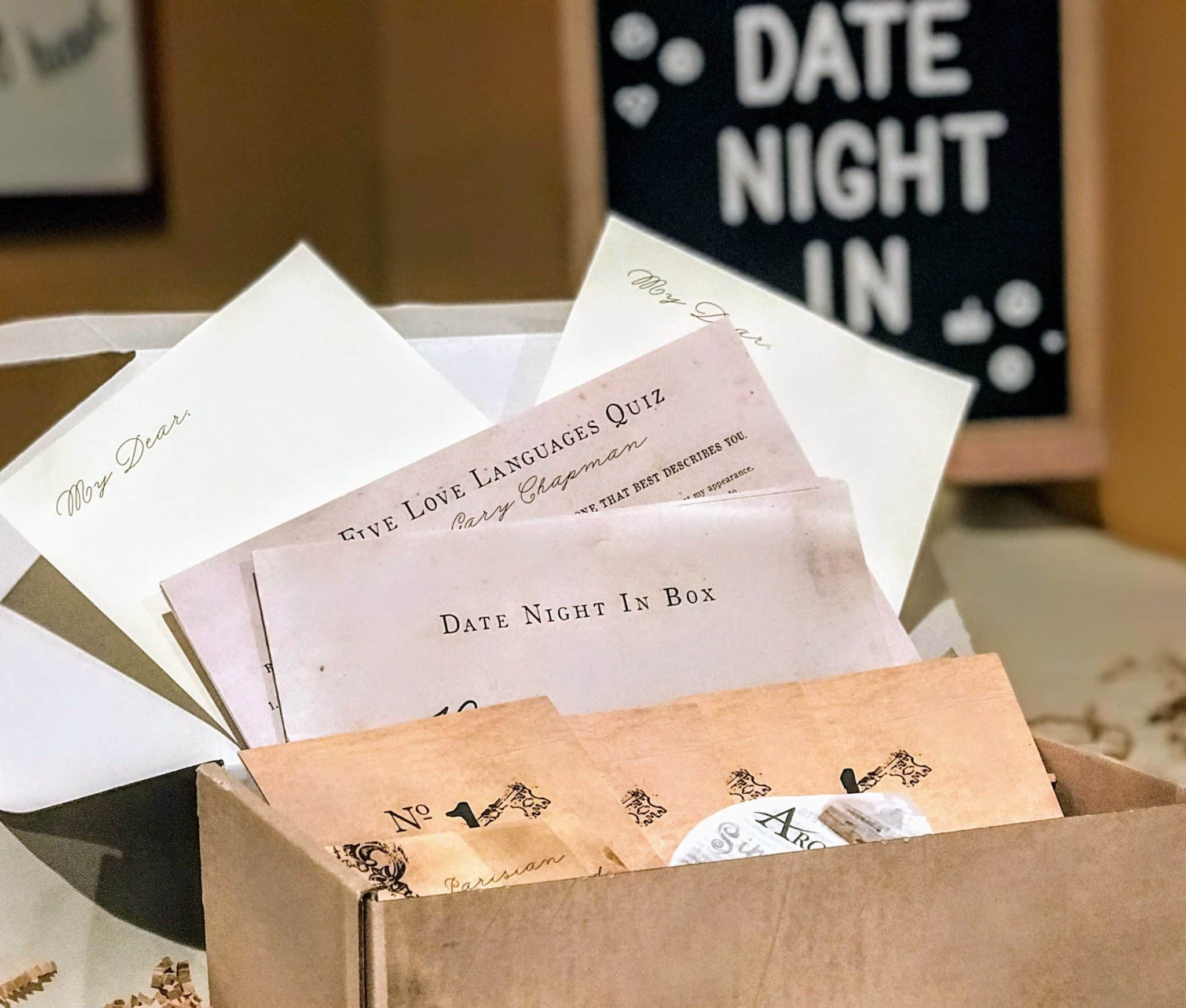 Date night In Unboxed - Everything that's included in the Date Night In Key to your heart box is pictured here