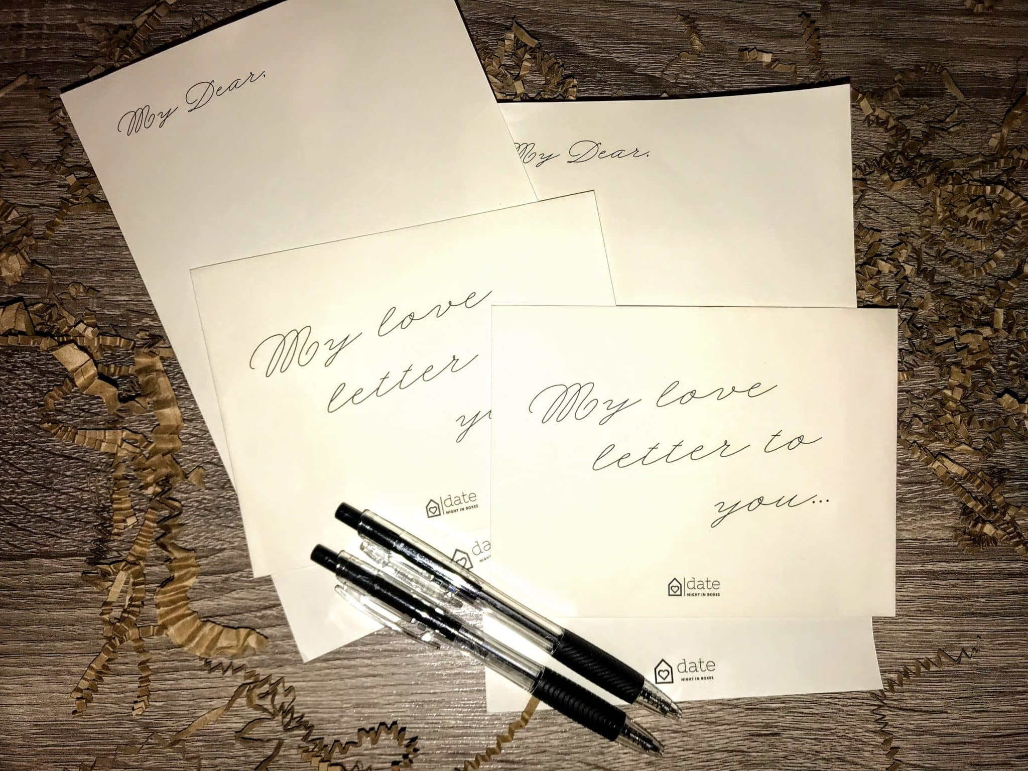 Love Letter Stationary that came with our fun Date Night In Box.  One of the best Date Nights ideas we've ever done!
