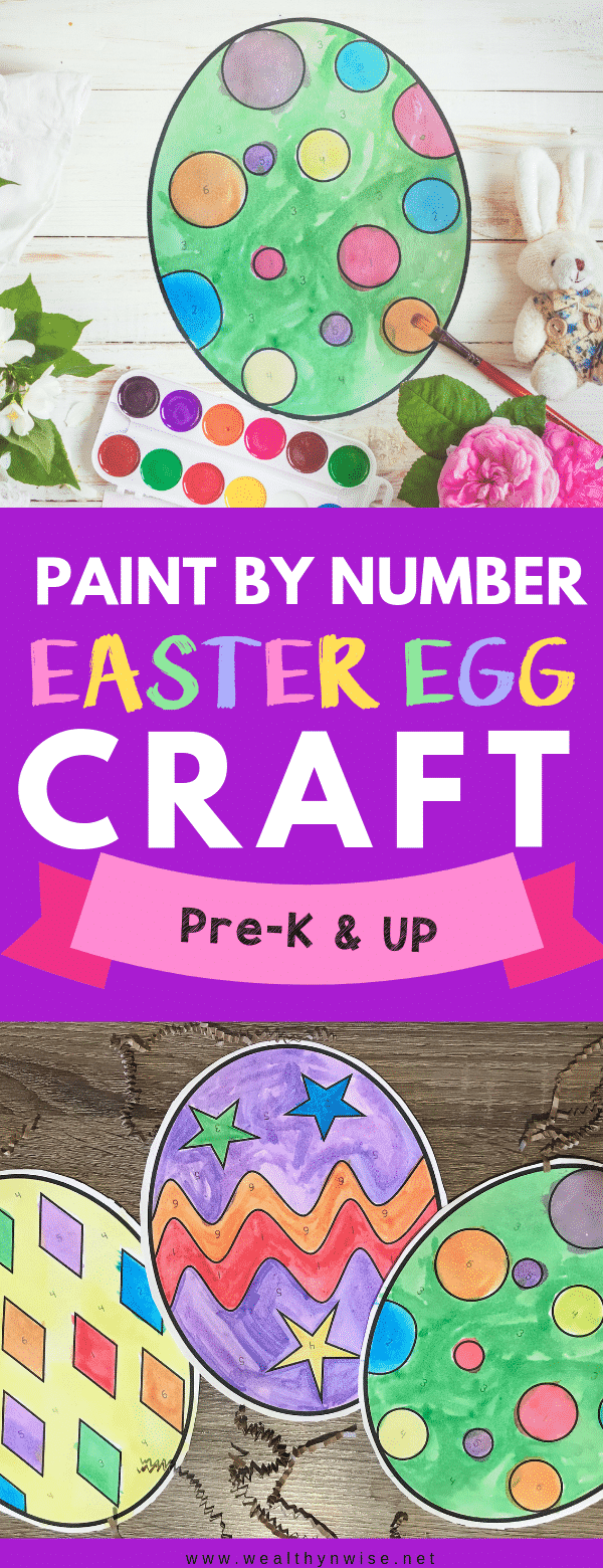 Simplest Easter Craft for Preschoolers |  Easy and Mess free easter egg arts and crafts activity for preshool age and up.  #easter #arts&crafts #preschoolcrafts #prekcrafts
