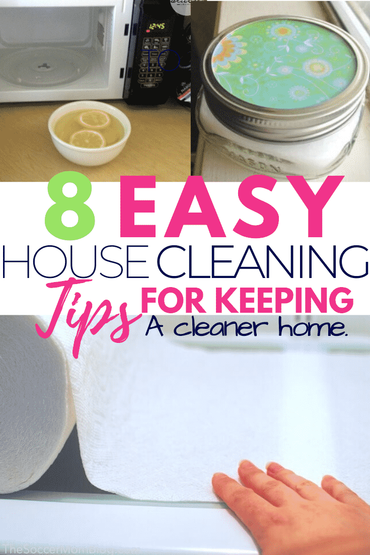 8 Easy House Cleaning Hacks to make your home look clean, smell clean and feel clean all the time. #cleaningtips #cleaninghacks