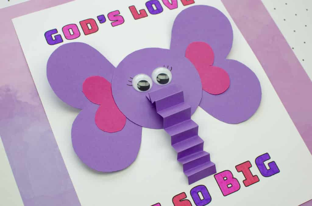 God's Love is so big Sunday School Valentine's Craft