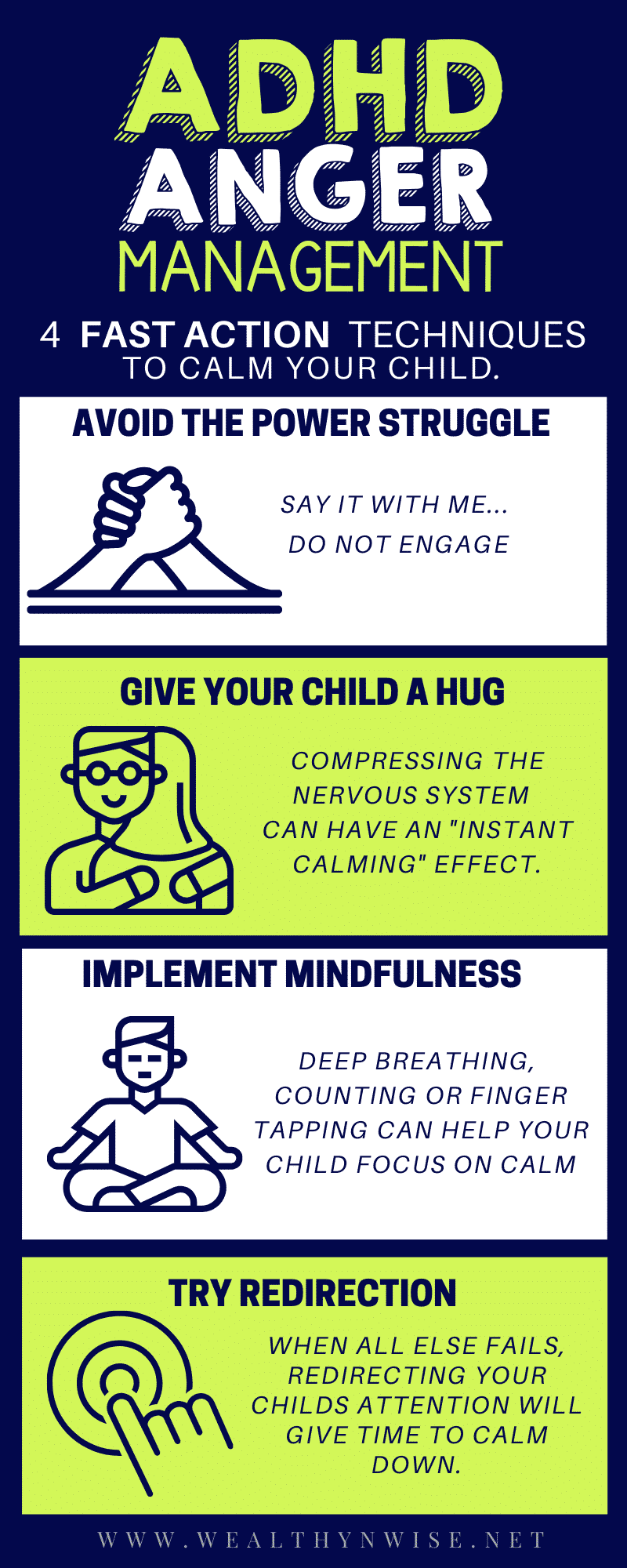 Anger Management Techniques for kids.  These Deescalation strategies can help with adhd anger issues and calm your child quickly.