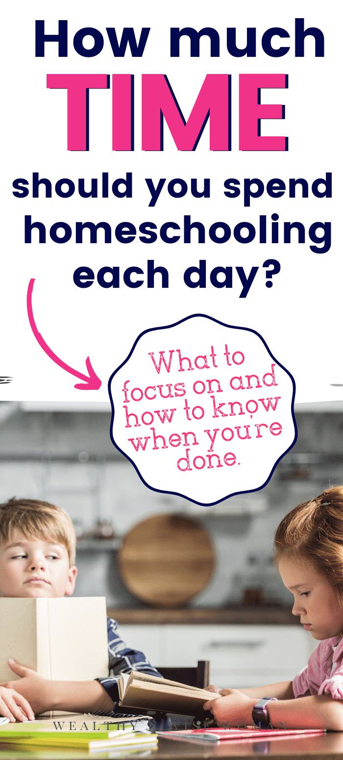 How much time should homeschooling take each day?