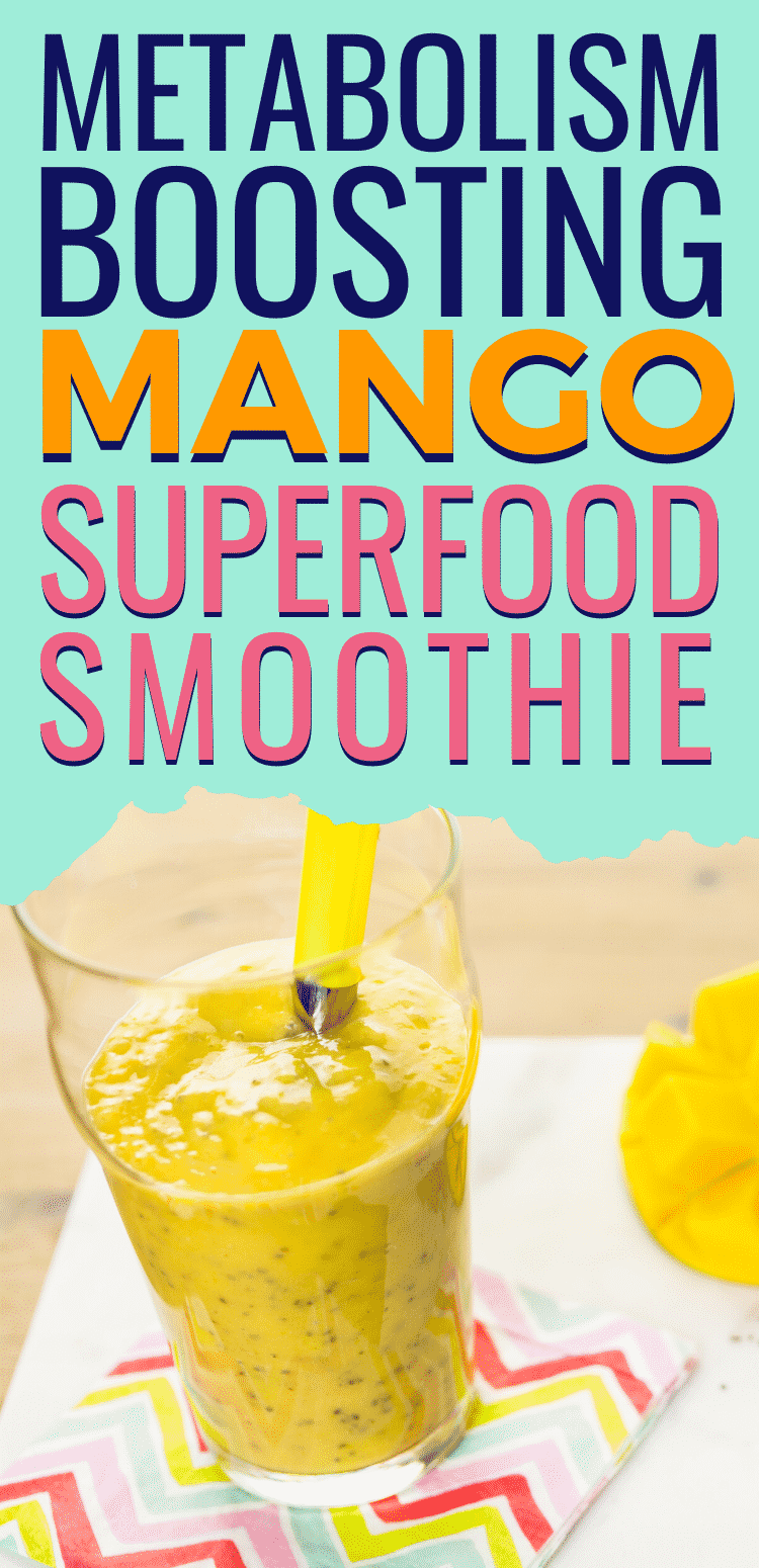 Metabolism Boosting Mango Superfood Smoothie