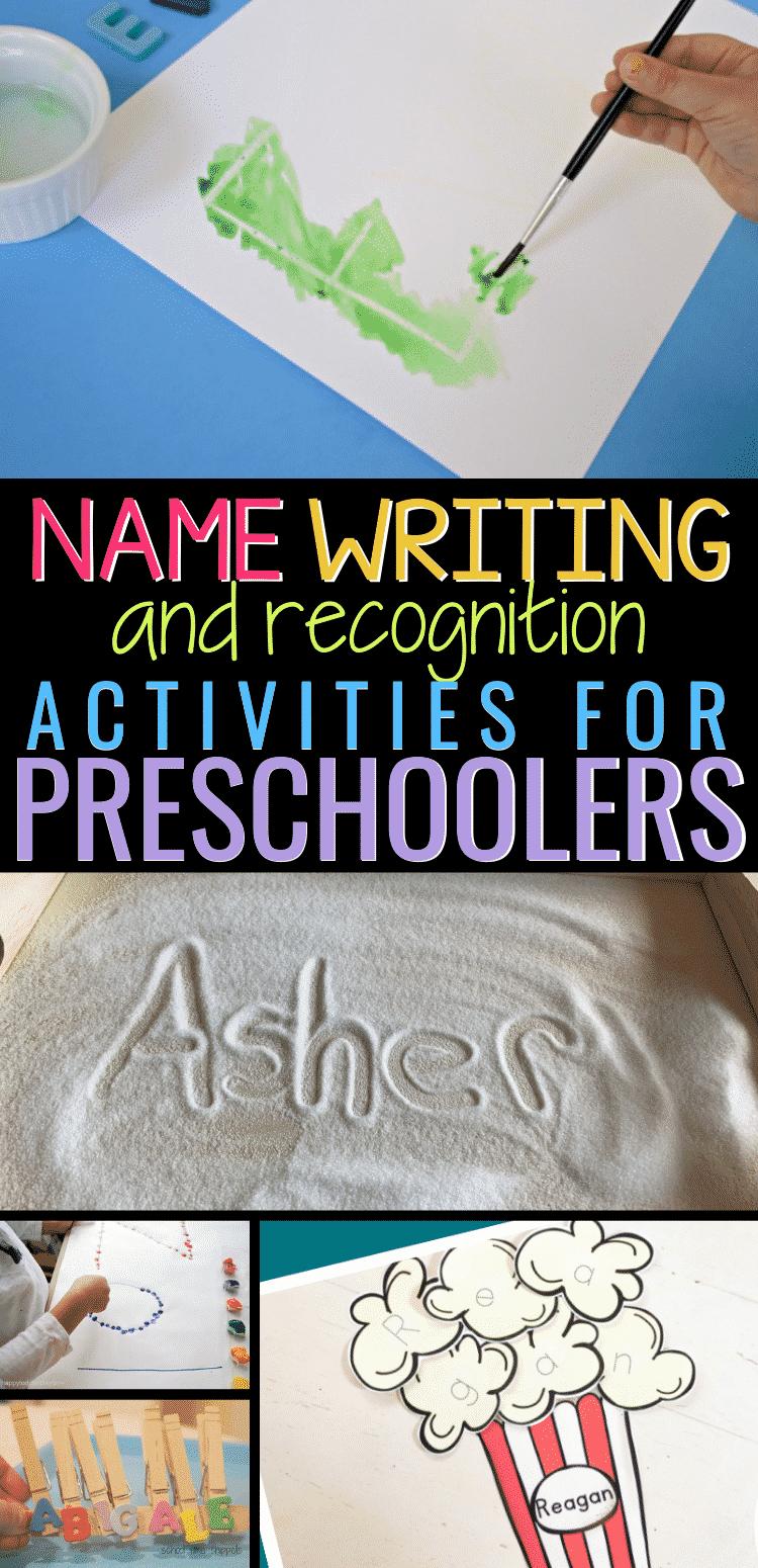 How do you teach a child to write their name?