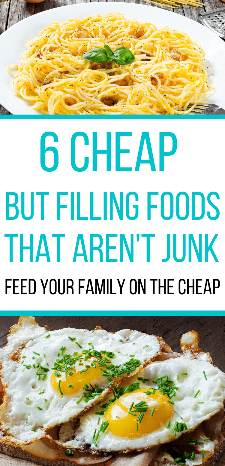 5 Cheap foods that are healthy and filling.