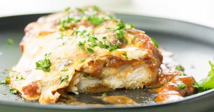 The Easiest, Tastiest Chicken Parmesan Bake